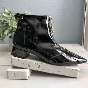 Anthropologie Vicenza Varsovia Black Ankle Boots